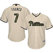 Majestic Men's Replica Philadelphia Phillies Maikel Franco #7 2016 Memorial Day Cool Base Home White Jersey