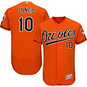 Majestic Men's Authentic Baltimore Orioles Adam Jones #10 Alternate Orange Flex Base On-Field Jersey