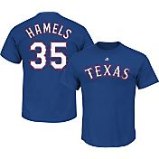 Majestic Triple Peak Men's Texas Rangers Cole Hamels Royal T-Shirt