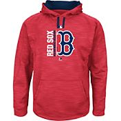 Majestic Men's Boston Red Sox Therma Base On-Field Red Authentic Collection Pullover Hoodie