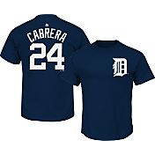 Majestic Men's Detroit Tigers Miguel Cabrera #24 Navy T-Shirt