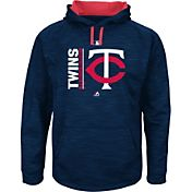 Majestic Men's Minnesota Twins Therma Base On-Field Navy Authentic Collection Pullover Hoodie