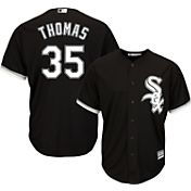 Majestic Men's Replica Chicago White Sox Frank Thomas #35 Cool Base Alternate Black Jersey