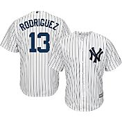 Majestic Men's Replica New York Yankees Alex Rodriguez #13 Cool Base Home White Jersey