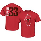 Majestic Men's Chicago Bulls Scottie Pippen #33 Red T-Shirt