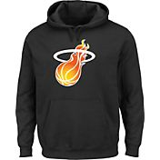 Majestic Men's Miami Heat Hardwood Classic 1988-99 Logo Black Hoodie