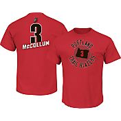 Majestic Men's Portland Trail Blazers C.J. McCollum #3 Red T-Shirt