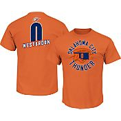 Majestic Men's Oklahoma City Thunder Russell Westbrook #0 Orange T-Shirt