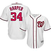 Majestic Boys' Replica Washington Nationals Bryce Harper #34 Cool Base Home White Jersey