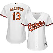 Majestic Women's Replica Baltimore Orioles Manny Machado #13 Cool Base Home White Jersey