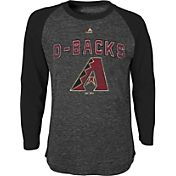 Majestic Youth Arizona Dbacks Black Raglan Long Sleeve Shirt