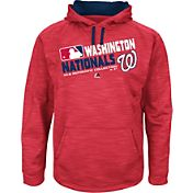 Majestic Youth Washington Nationals On-Field Red Authentic Collection Pullover Hoodie