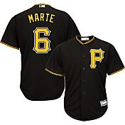Majestic Youth Replica Pittsburgh Pirates Starling Marte #6 Cool Base Alternate Black Jersey