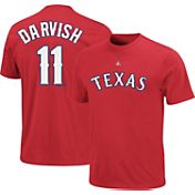 Majestic Youth Texas Rangers Yu Darvish #11 Red T-Shirt