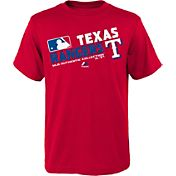 Majestic Youth Texas Rangers Authentic Collection Red T-Shirt