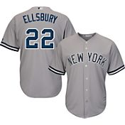 Majestic Youth Replica New York Yankees Jacoby Ellsbury #22 Cool Base Road Grey Jersey