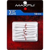 "Maxfli 4-Prong Opti-Height 3.25"" Golf Tees – 10-Pack"