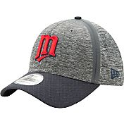 New Era Men's Minnesota Twins 39Thirty Clubhouse Grey/Navy Flex Hat