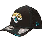 New Era Men's Jacksonville Jaguars 39Thirty Neo Flex Black Hat