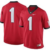 Nike Men's Georgia Bulldogs #1 Red Football Limited Jersey