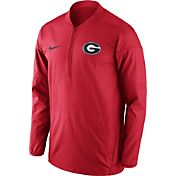 Nike Men's Georgia Bulldogs Red Lockdown Half-Zip Performance Jacket