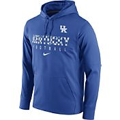 Nike Men's Kentucky Wildcats Blue Circuit Performance Football Hoodie