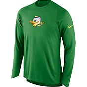Nike Men's Oregon Ducks Apple Green ELITE Shooter Long Sleeve Shirt