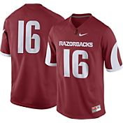 Nike Men's Arkansas Razorbacks #16 Cardinal Game Football Jersey