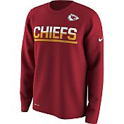 Nike Men's Kansas City Chiefs Team Practice Performance Red Long Sleeve Shirt