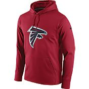 Nike Men's Atlanta Falcons Performance Circuit Logo Essential Red Hoodie