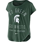Nike Women's Michigan State Spartans Green Gameday Signal Tri-Blend T-Shirt