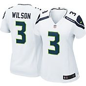 Nike Women's Away Game Jersey Seattle Seahawks Russell Wilson #3