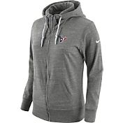 Nike Women's Houston Texans Tailgate Vintage Grey Full-Zip Hoodie