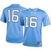Nike Youth North Carolina Tar Heels #16 Carolina Blue Game Football Jersey