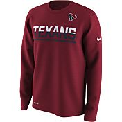 Nike Youth Houston Texans Team Practice Red Long Sleeve Shirt