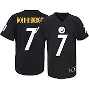NFL Team Apparel Youth Pittsburgh Steelers Ben Roethlisberger #7 Black T-Shirt