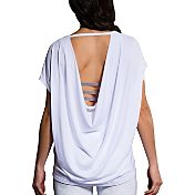 Onzie Women's White Drop Back Tank Top
