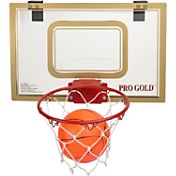 POOF Pro Gold 18'' Over the Door Basketball Set