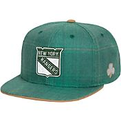 Reebok Men's New York Rangers St. Patrick's Day Green Plaid Snapback Hat