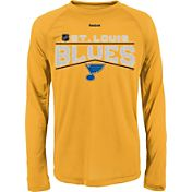 Reebok Youth St. Louis Blues Center Ice TNT Grey Performance Long Sleeve T-Shirt
