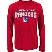 Reebok Youth New York Rangers Center Ice TNT Grey Performance Long Sleeve T-Shirt