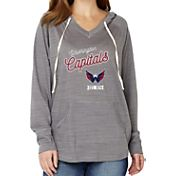 Soft As A Grape Women's Washington Capitals Grey V-Neck Hoodie
