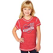 Soft As A Grape Youth Girls' Washington Nationals Red V-Neck Shirt