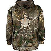 Stitches Men's Houston Astros Pullover Realtree Camo Hoodie