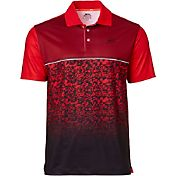 Slazenger Men's Ashen Fractured Print Golf Polo