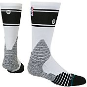 Stance NBA Bold Stripe Crew White Socks