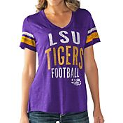 Touch by Alyssa Milano Women's LSU Tigers Purple Motion Football T-Shirt