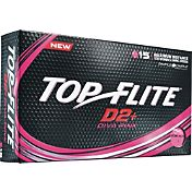 Top Flite Women's D2+ Diva Pink Golf Balls – 15-Pack
