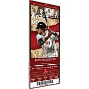 Boston Red Sox David Ortiz Final Season Canvas Mega Ticket
