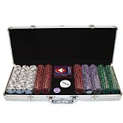 Trademark Poker 500 Tri Color Suited Chip Poker Set and Case